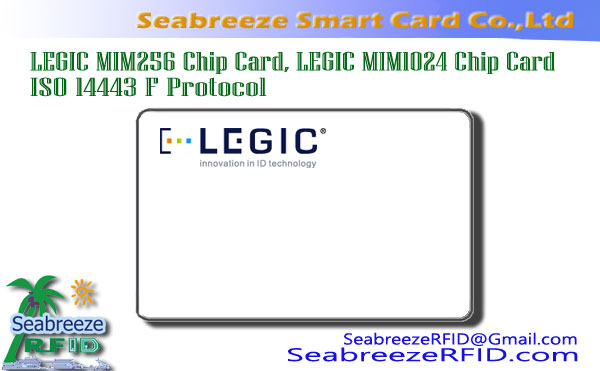 LEGIC MIM256 Chip Card, LEGIC MIM1024 Chip Card, ISO 14443 F Protokolli Chip Card