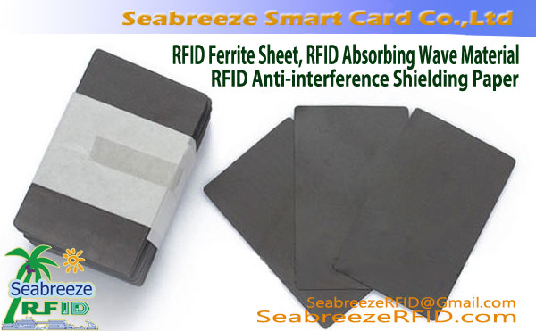 RFID Ferrite Sheet, RFID Absorberende Wave Material, RFID Anti-magnetisk Paste, RFID Anti-interferens skjerming Paper