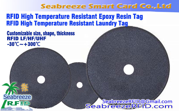 RFID Tag Lavandaria High Temperature, RFID High Temperature Tag resistente, Alta temperatura Epóxi Resistente Tag Resin