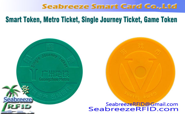 Smart Token, Round Metro Ticket, Enkelt Journey Ticket, spill~~POS=TRUNC Token, Round Coin Ticket, Round trafikk billett Customization