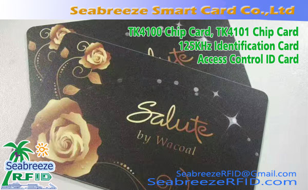 TK4100 Chip Card, TK4101 Chip Card, 125KHz identifikasiekaart