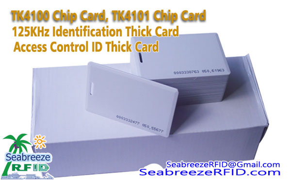 TK4100 čip kartice, TK4101 čip kartice, 125KHz identifikacijska kartica, Access Control Identification Card, od Seabreeze Smart Card Co, Ltd.