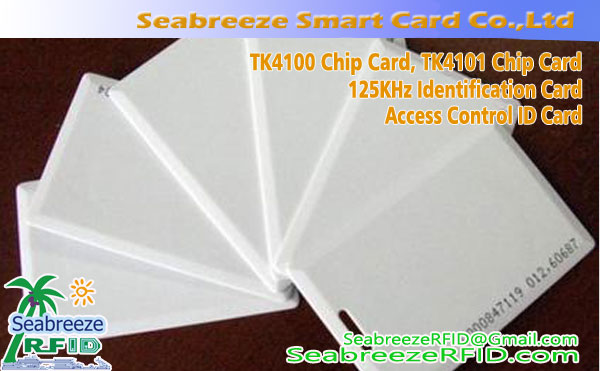 TK4100 Chip Thick Card, TK4101 Chip Thick Card, 125KHz Identifikační Thick Card