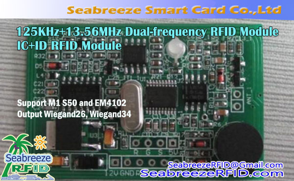 125KHz + 13.56MHz Dual-frekuensi RFID Modul, RFID Modul IC + ID