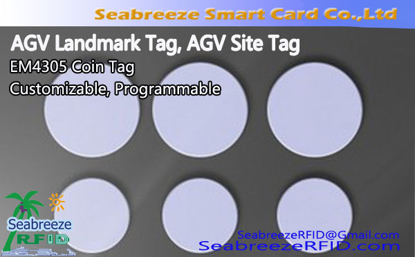 AGV Landmark Tag, AGV Site Tag, AGV Site Tag Programmable, Custom AGV Landmark Tag, EM4305 Coin Tag
