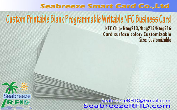 Custom Printable Blank Programmable Writable NFC Card