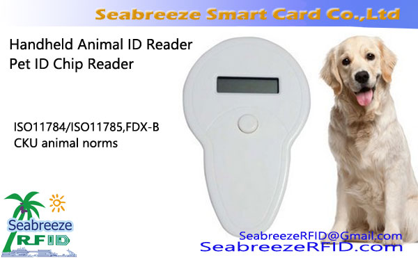 Handheld animal ID Scanner para ISO11784, ISO11785, FDX-B, CKU animal ID Scanner, Handheld Pet ID Leitor