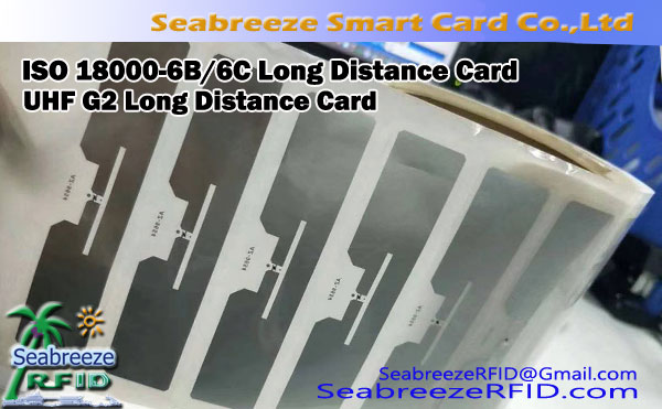 ISO 18000-6B / 6C Long Distance Card, UHF G2 panjang Card Jarak
