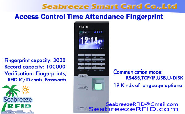 Network Access Control Time Attendance Integrated Fingerprint
