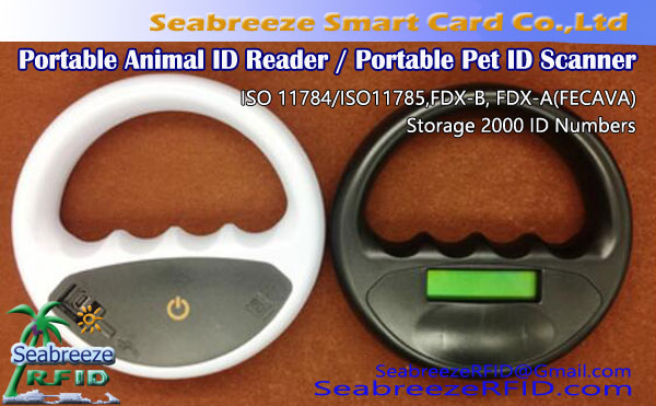 Scanner ID animal portable pour FDX-B, FDX-A, AVIDE, HDX, Lecteur ID animal portable, Scanner portable ID Pet