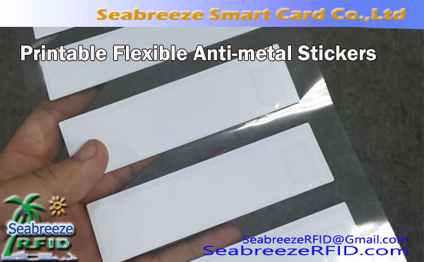 Custom RFID Cetak Flexible Metal Stister dicétak, Label Asli RFID Label Anti-logam Label