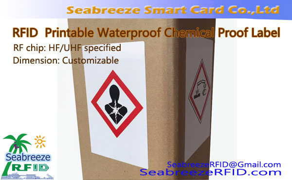 RFID tisk Vodoodporna Chemical Dokaz Sticker, UHF tisk Vodoodporna Chemical Dokaz Label, od Seabreeze Smart Card Co, Ltd.