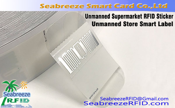 Unmanned Supermarket RFID Sticker, Unmanned Retail Store Label Produk