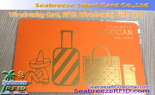 Wiredrawing Card, Wiredrawing Film Card, RFID Wiredrawing Card