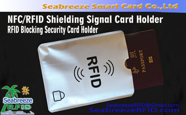 NFC RFID Shielding Signal Card Holder, RFID Bloqueio Titular Segurança, de Seabreeze Smart Card Co., Ltd. -28
