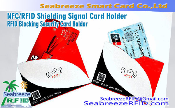 NFC / RFID skermingarhönnun Signal Korthafi, RFID Sljór Security Card Holder