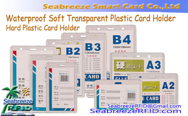 Waterproof Soft Transparent Plastic Card Holder, Hard Plastic Card Holder