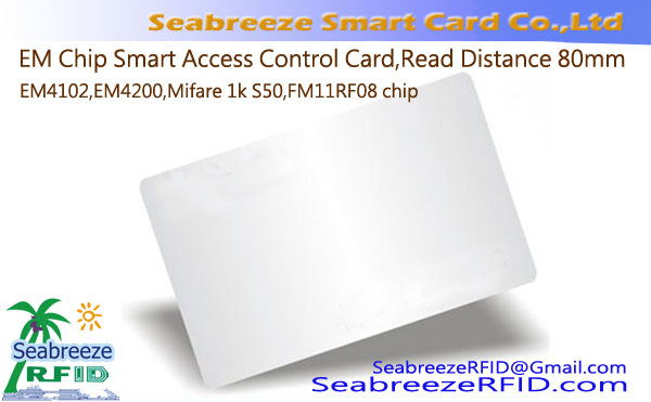 EM Chip Smart Access Control Card Lees Afstand 80mm, ID kaart & IC Identification Card / Tag