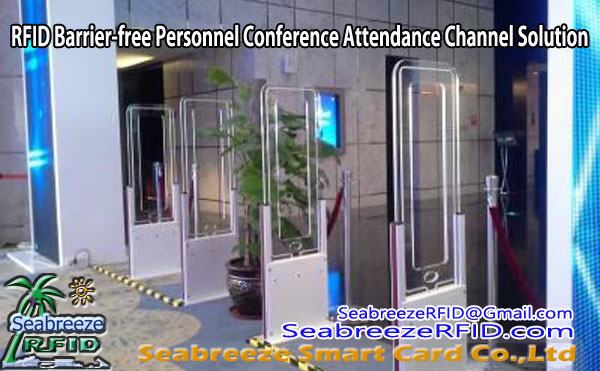 RFID Barrier-gratis Personal Konferenz Participatioun Channel Gate Solution