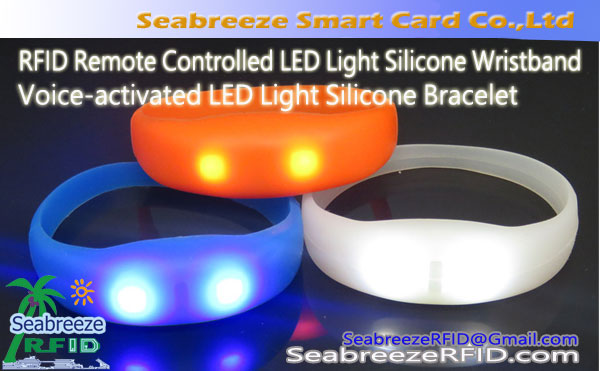 Voice-activated LED Light Silicone Bracelet, RFID Remote Controlled LED Light Silicone Wristband, LED Light Silicone Bracelet