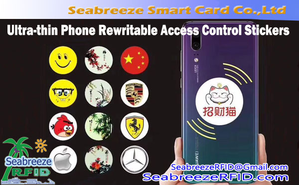 RFID Ultra-manipis Mobile Telepono Access Control Sticker,UID Rewritable Mobile Telepono Elevator Access Control Time Attendance Tag