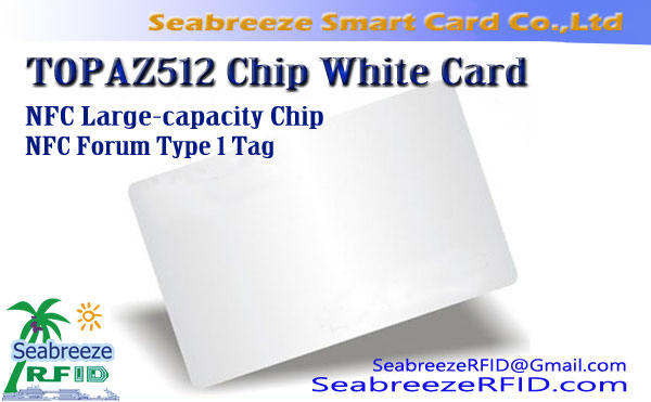 NFC mare capacitate TOPAZ512 Chip Card alb