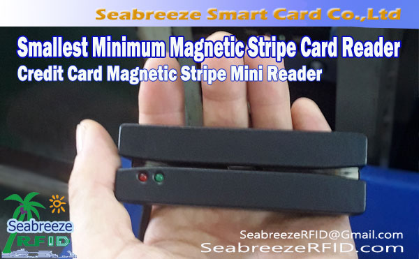 Minsta Minsta Magnetremsa Kortläsare, Credit Card Magnetic Stripe Mini Reader