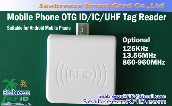 Mobile Phone OTG Micro UHF Reader, Mobile Phone OTG Interface RFID Tag kekere Reader
