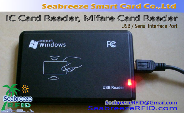 IC Card Reader, Mifare Card Reader, Interface USB ou Interface Serial