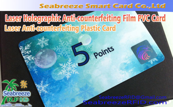 Laser Holographic Anti-counterfeiting Film ịkwanyere Card, Laser Anti-counterfeiting Plastic Card