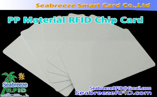 PP Material RFID Chip-kort, Polypropylen Materiale Smart Card