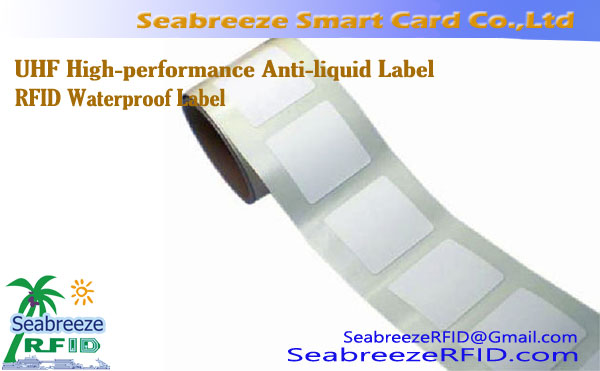 UHF High-performance Anti-vloeistof Label, RFID Waterdichte Label