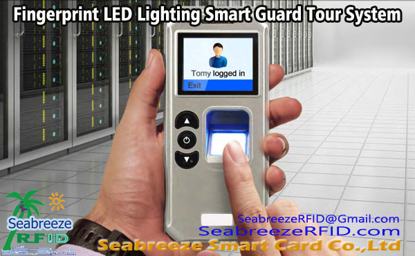 Fingerprint LED Lighting inteligente sistema de guarda de turismo