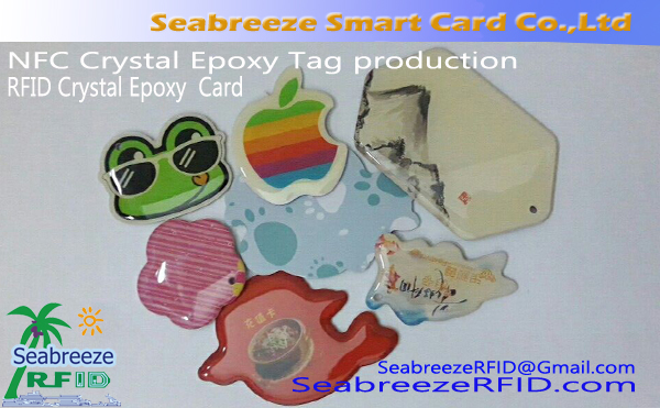 RFID Crystal Epoxy Access Kontrolléiere Card, Crystal Epoxy Smart Umeldung Tag