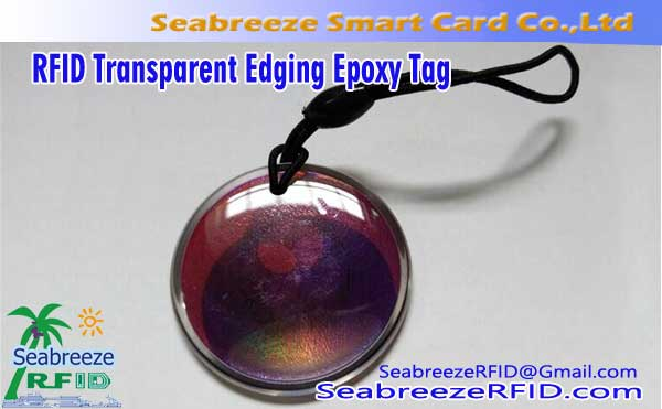 Transparente Verpackung umrandete Crystal Epoxy-Karte, RFID Transparent Edging Epoxy Tag