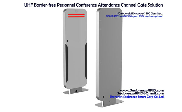 UHF Barrier bebas persidangan Personnel Kehadiran Solution Channel Gate