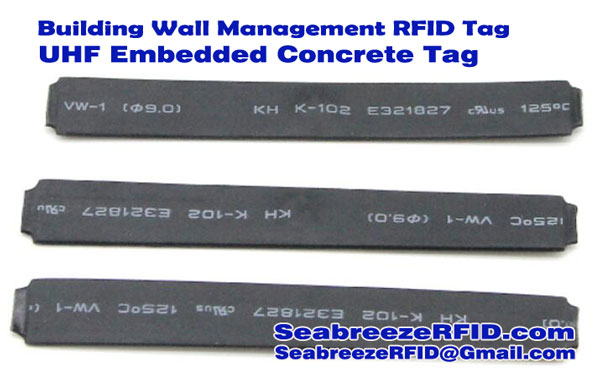 Tag Cement RFID, Bangunan Wall Management RFID Tag, RFID Embedded Tag Concrete