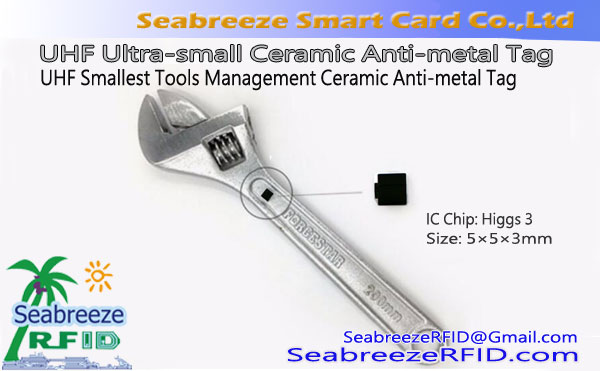 UHF Ultra-small Ceramic Anti-metal Tag, RFID Smallest Tools Management Ceramic Anti-metal Tag