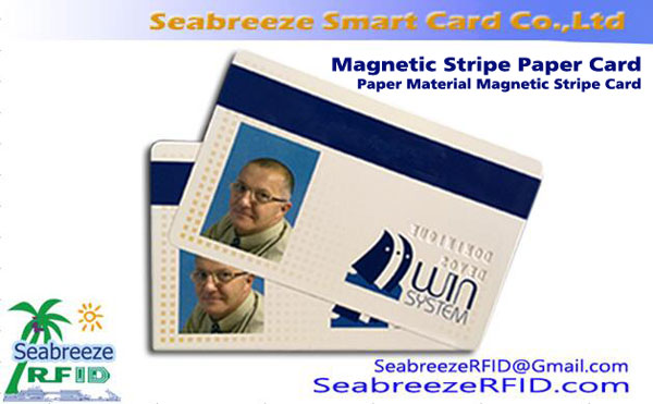 Magnetic Stripe Paper Card, Paper Material Magnetic Stripe Card