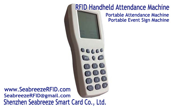 Mesin Absensi RFID Handheld, Portabel Mesin Absensi, Portabel acara Check-in Machine