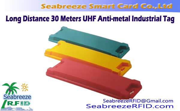 مسافت طولانی 30 Meters UHF Anti-metal Industrial Tag