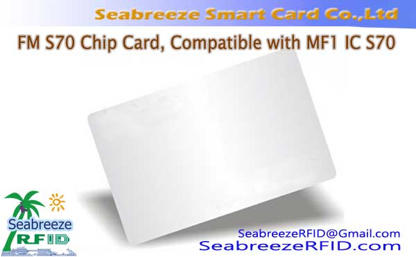 FM S70 Chip Card, Versoenbaar is met MF1 IC S70 Chip