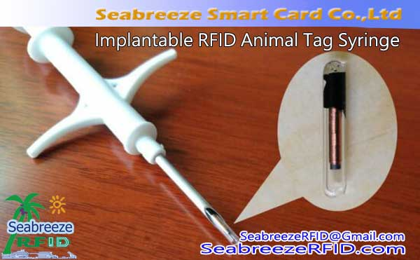 Implanterbara RFID Animal Tag Syringe, Glass Tube Bio-elektroniska Tag Spruta