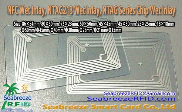 NFC Wet Inlay, NTAG213 Wet Inlay, Die meeste Series chip Wet Inlay, van Seabreeze Smart Card Co, Ltd.