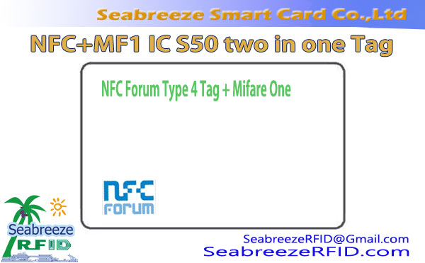 NFC+Mifare IC S50 Two in One Tag, 2 en 1 NFC Anti-counterfeiting Tag