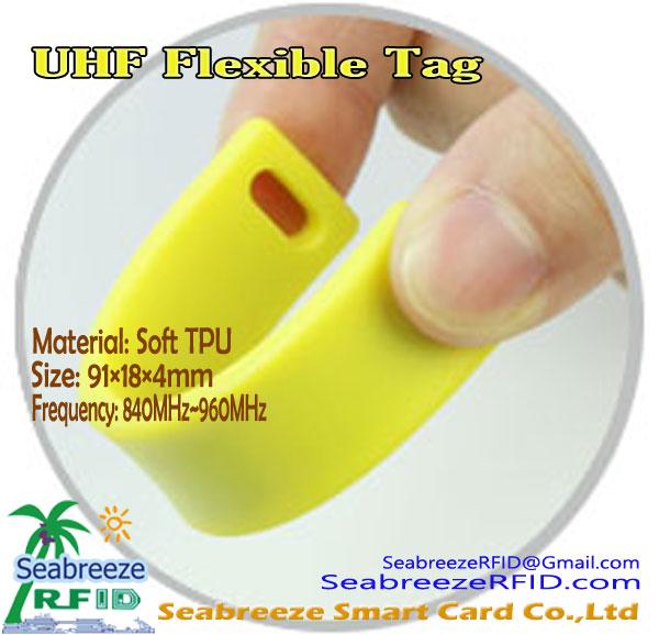 TPU материал UHF уян хатан Tag, Тэгш өнцөгт UHF уян хатан Tag, Seabreeze Smart Card Co., Ltd нь.