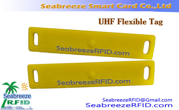 Material TPU flexible Tag UHF, UHF rectangular de etiquetas flexibles
