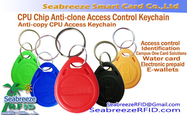 Anti-clone CPU Akses Keychain, CPU Chip Anti-clone Access Control Keychain