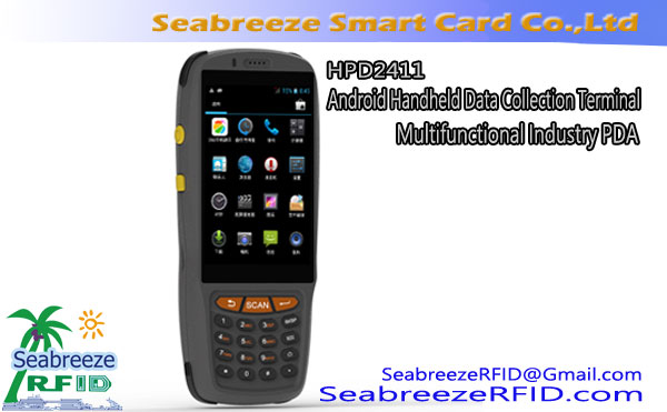HPD2411 Android Handheld Data Collection Terminal, HPD2411 Multifunktionnel Industrie PDA, Mobile Intelligent Data Collector