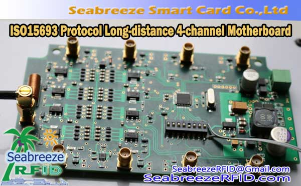 ISO15693 Protokolli High-pushtet Long-distance Multi-antenë 4-channel Motherboard